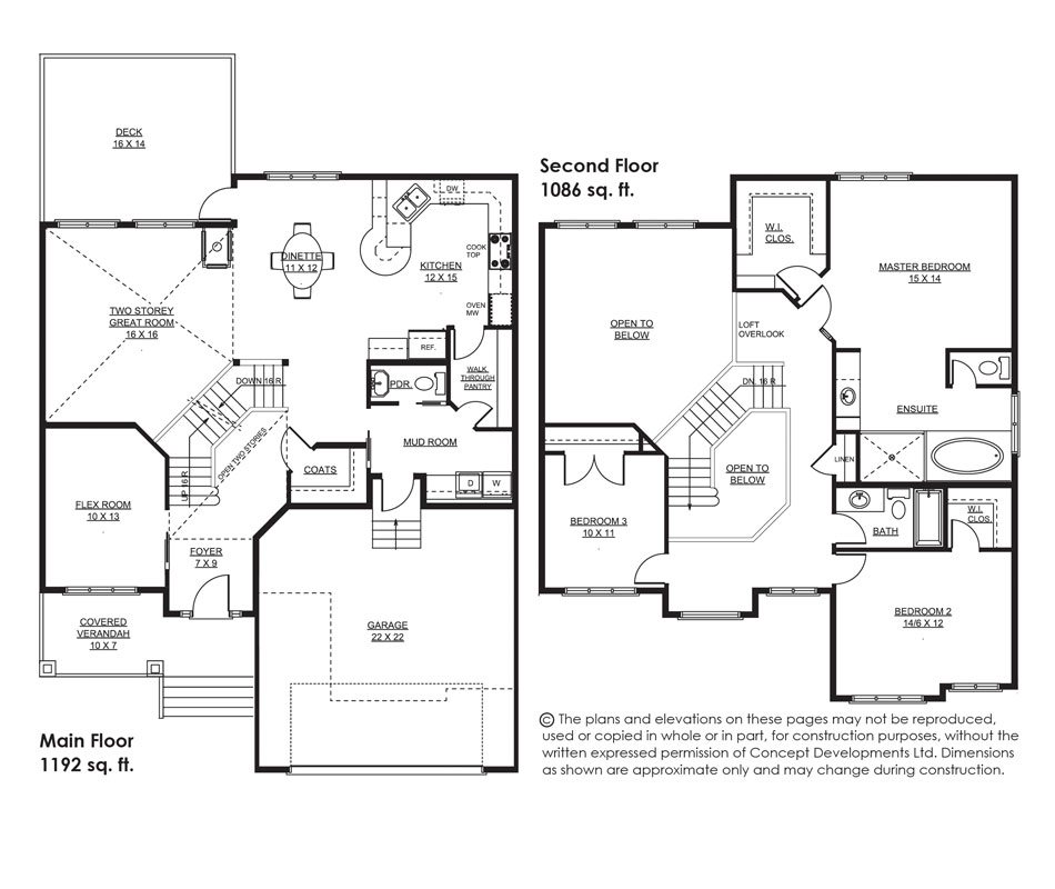 The Westland Floor Plan
