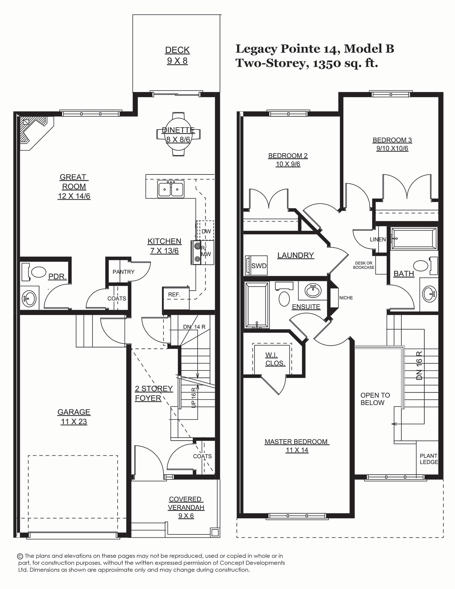 Legacy Pointe 14, 1394 sq. ft.