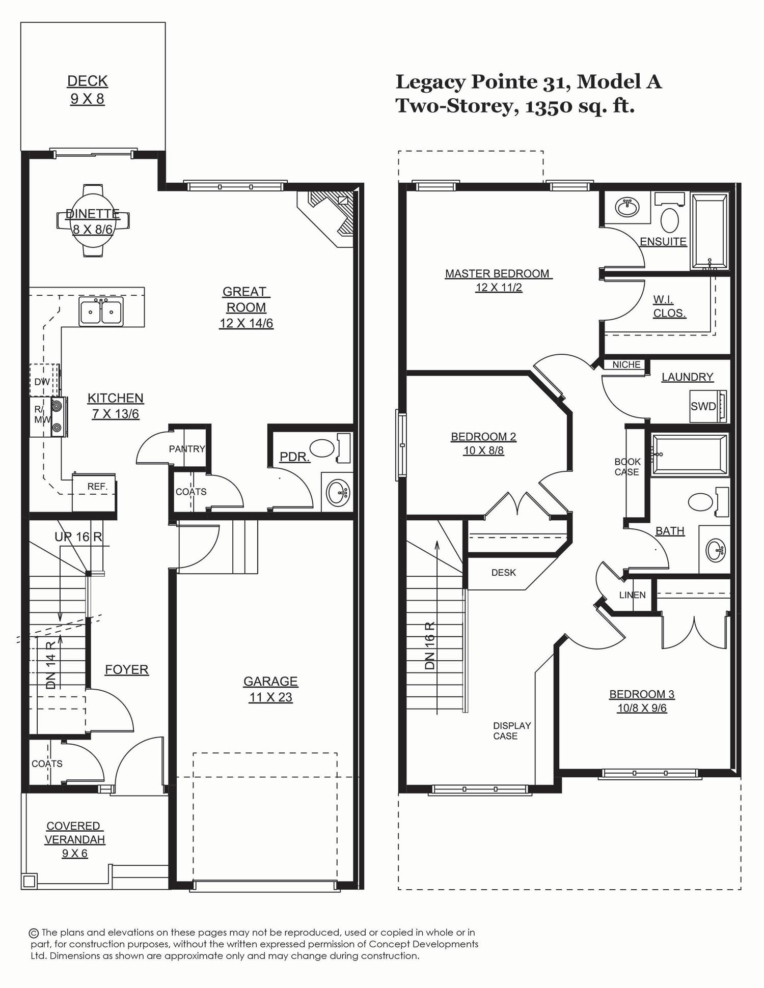 Legacy Pointe 33 1330 Sq Ft Concept Homes Custom