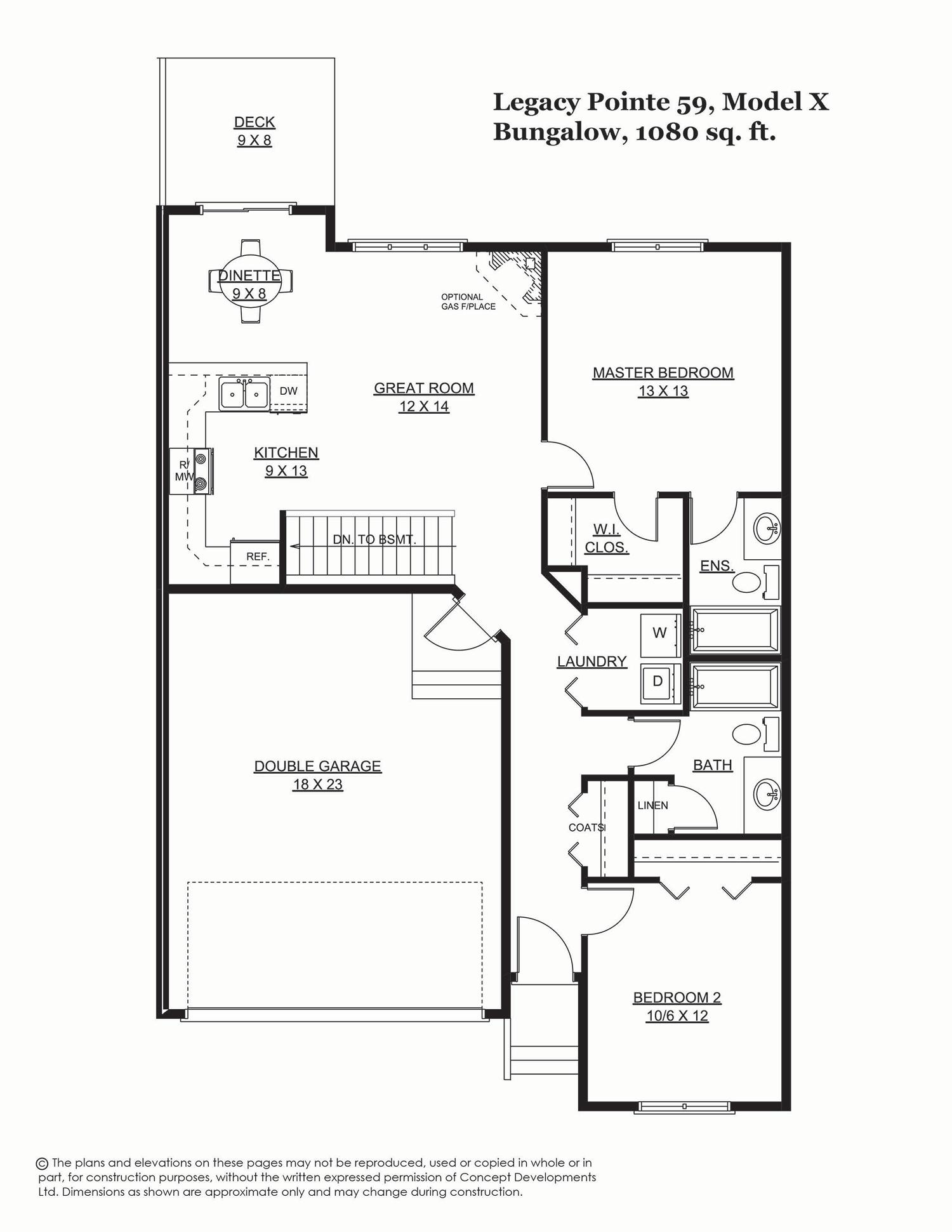 Legacy Pointe 59 - 1080 sq. ft.