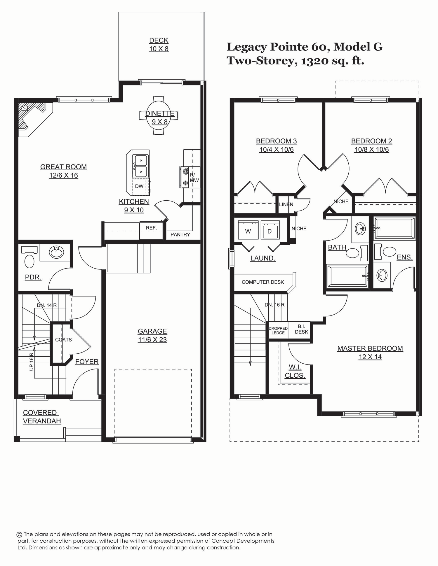 Legacy Pointe 60, 1394 sq. ft.