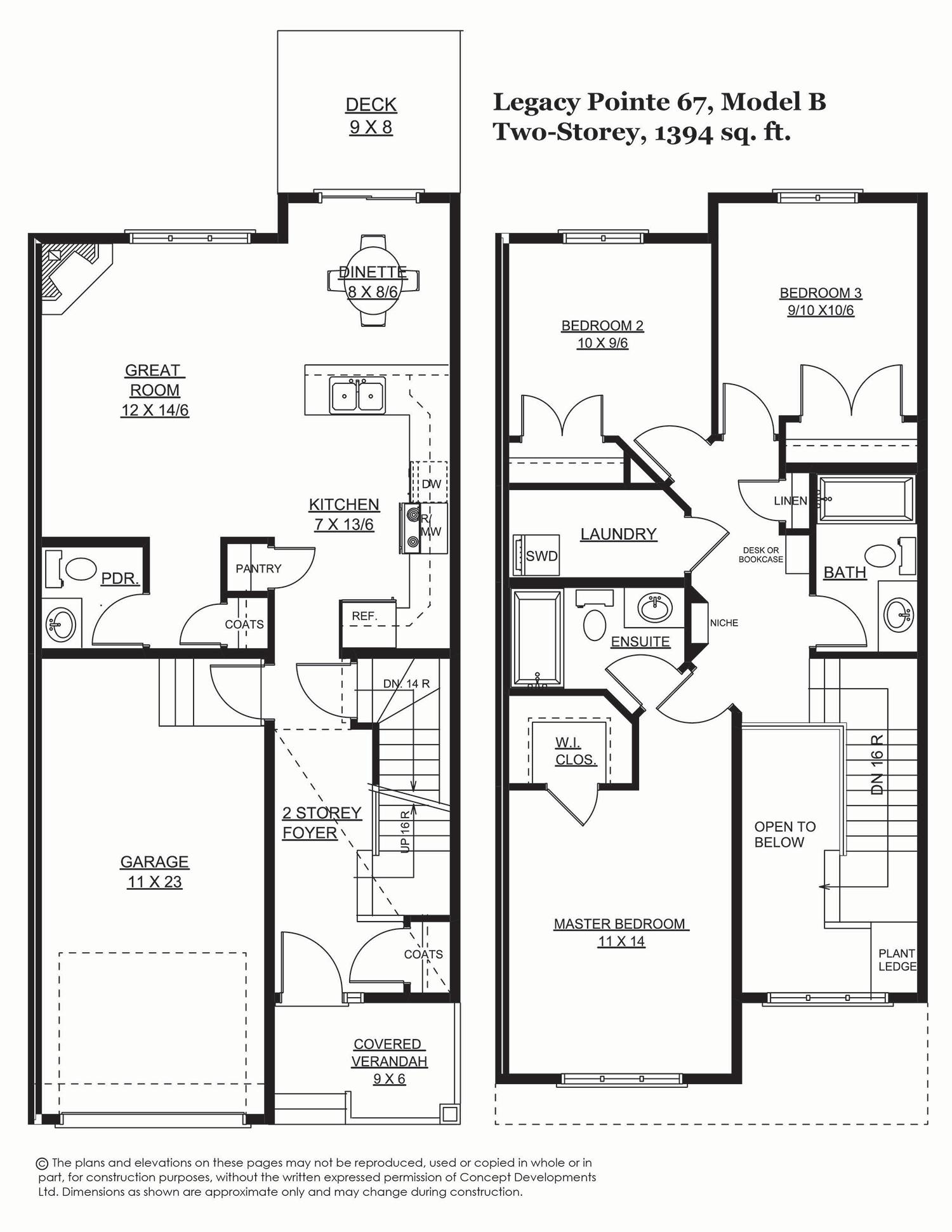 Legacy Pointe 67, 1394 sq. ft.
